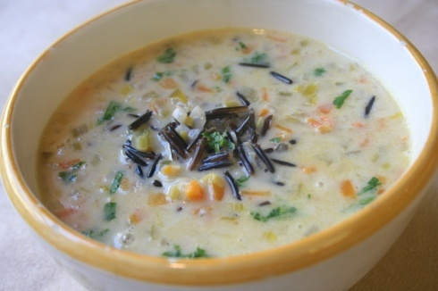 Chicken and Wild rice soup- but you have to use Wild Minnesota rice !!
