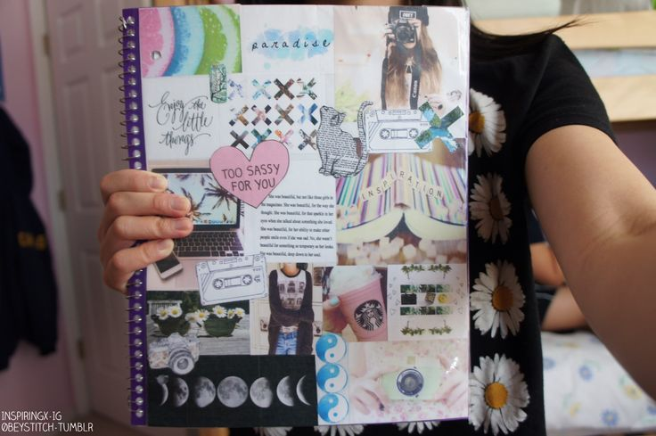 How to decorate scrapbook cover - Gallery For Gt Notebooks Tumblr