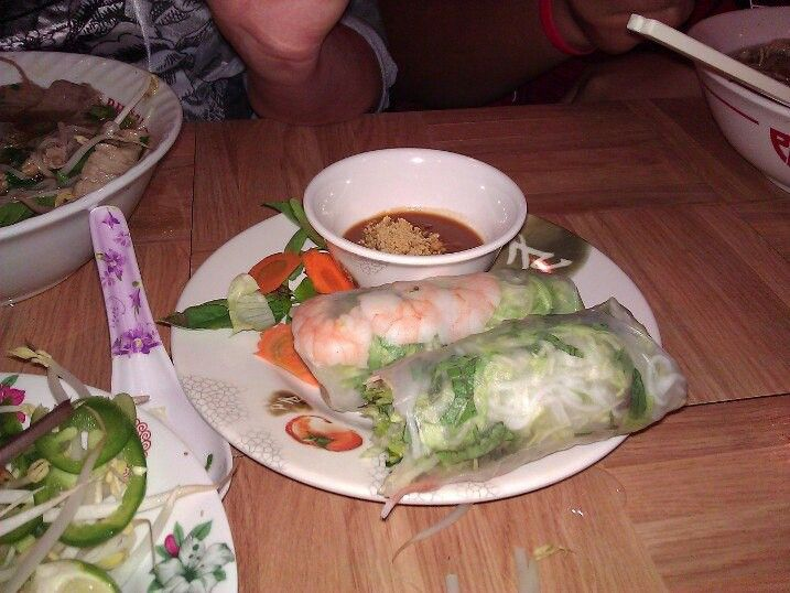 peanut sauce papaya spring rolls with peanut sauce with peanut sauce ...