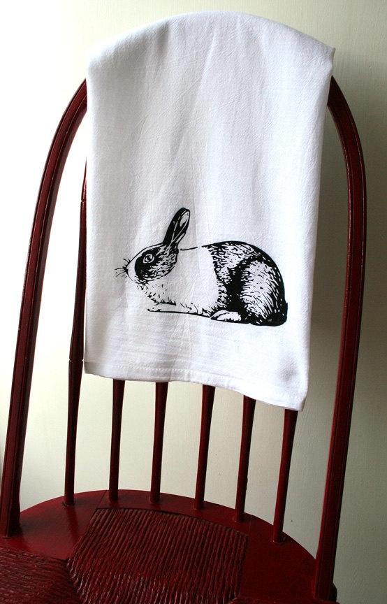 Bunny Flour Sack Towel