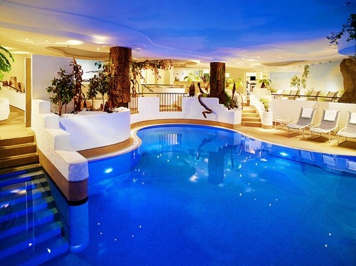 Great indoor pool step right in dream pools pinterest for Indoor swimming pools in mesa az