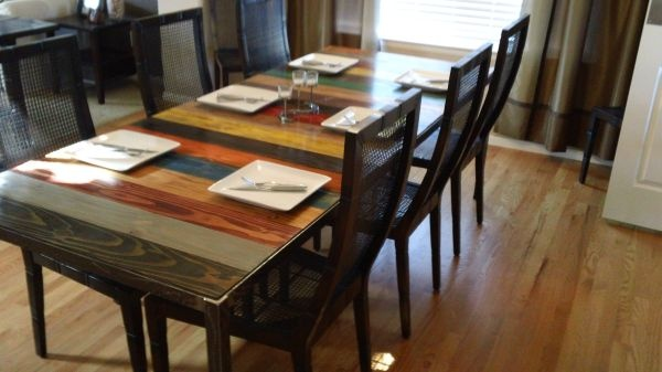 Dining Room Table Constructed From Reclaimed Wood Furniture