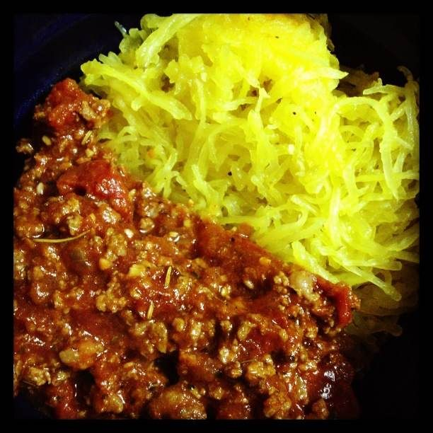 Meat Sauce with Spaghetti Squash | Favorite Recipes | Pinterest