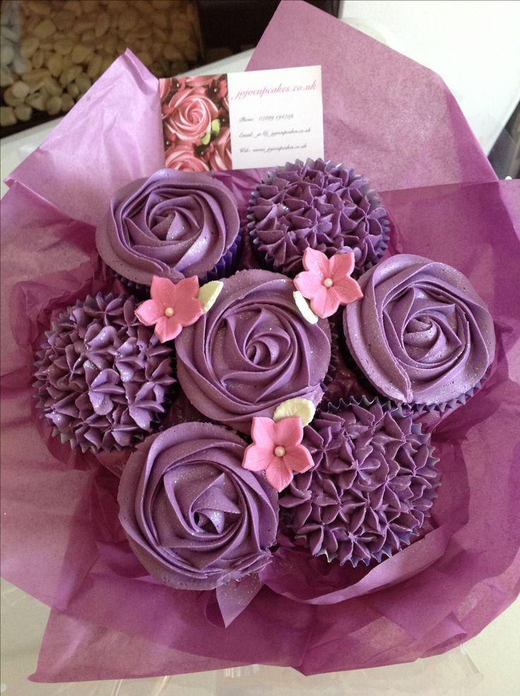 Cupcake bouquet cupcakes cakepops pinterest for Bouquet de fleurs un
