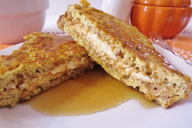 pumpkin stuffed crunchy french toast...maybe with silken tofu instead ...