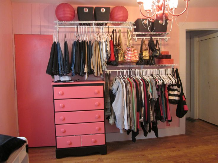 The clothes rack is a simple diy kit from home depot Cheap clothes storage ideas