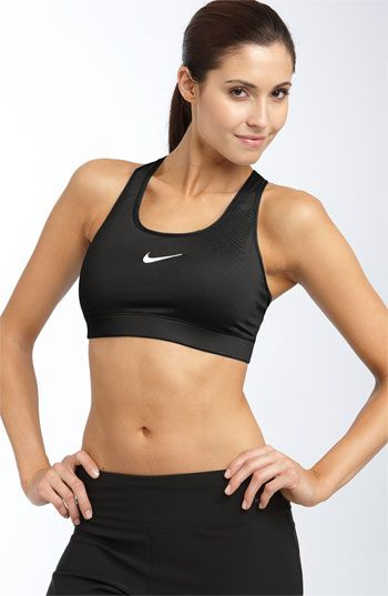 Nike Pro Racerback Compression Sports Bra...best I've found. Super soft and comfy! Yes COMFY! I love this sports bra!