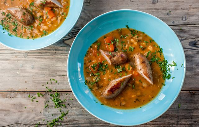 sausage soup chicken sausage and bean casserole with sage white bean ...