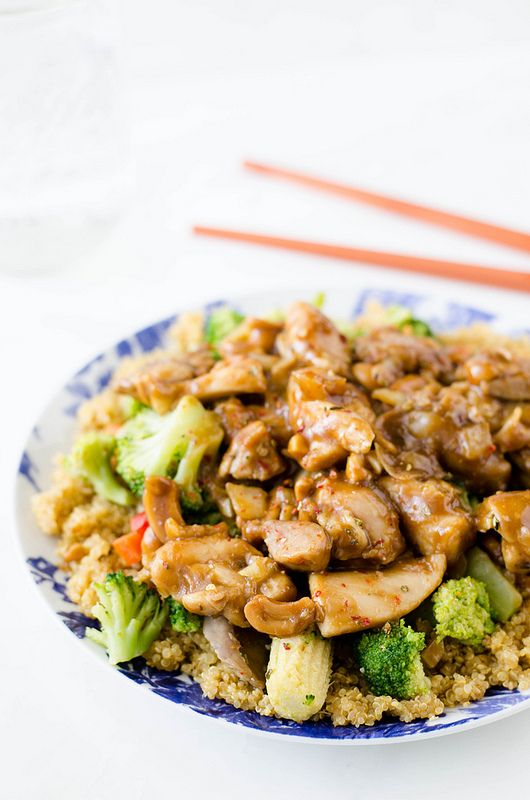 Cashew Chicken - quick, easy, and much healthier than takeout!