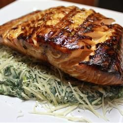 Honey-Ginger Grilled Salmon | This recipe is simple to make, yet ...