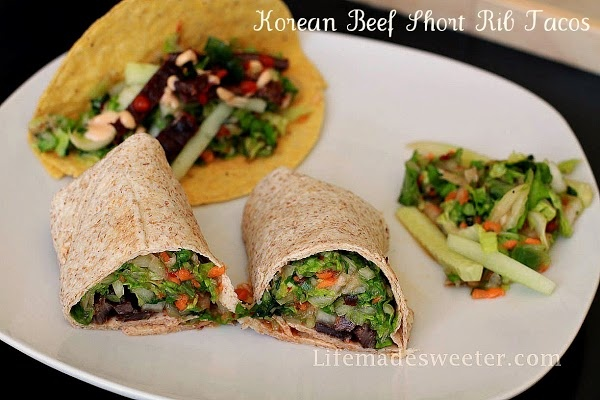 Korean Short Rib Tacos | Life made Sweeter - Asian Dishes | Pinterest