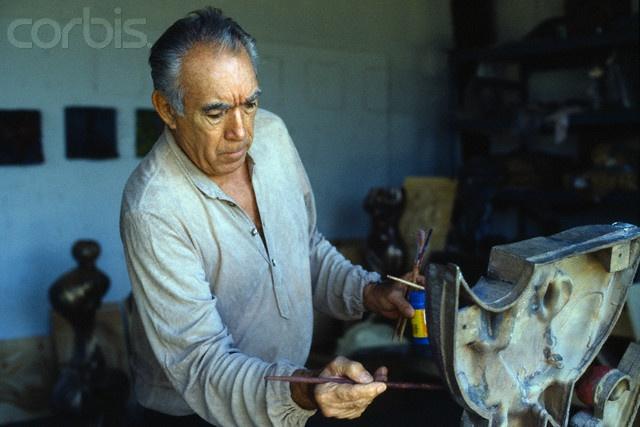 Anthony Quinn Painting in Art Studio | Making Art | Pinterest