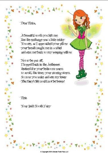 Custom tooth fairy letter craft ideas pinterest for Fairy letter ideas