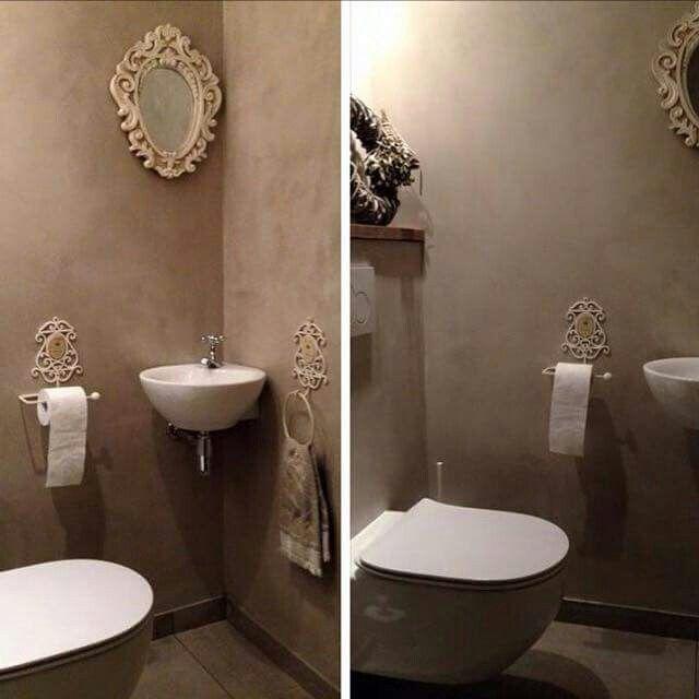 Toiletten verf tegels and toiletruimte on pinterest - Deco hal originele badkamer ...
