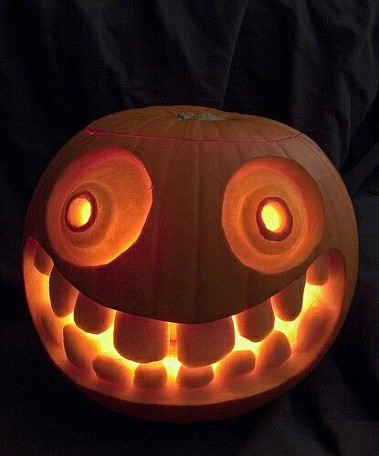 Funny face carved pumpkin holiday fun pinterest