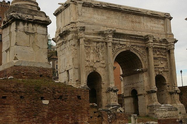 Arch Of Septimius Severus In Rome Ancient Roman Architecture Pint