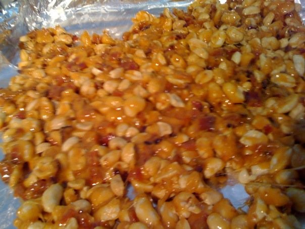 bacon peanut brittle. microwave peanut brittle just add precooked ...