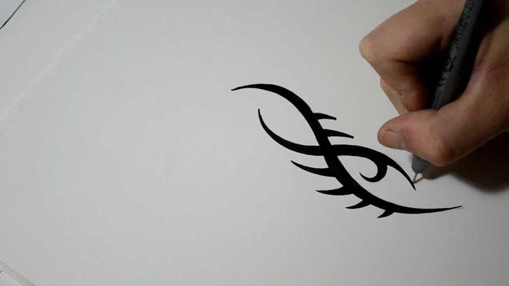 как нарисовать себе тату ручкой пошаговая инструкция