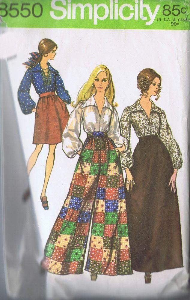 skirt palazzo pants sewing pattern simplicity 8550 sz 10