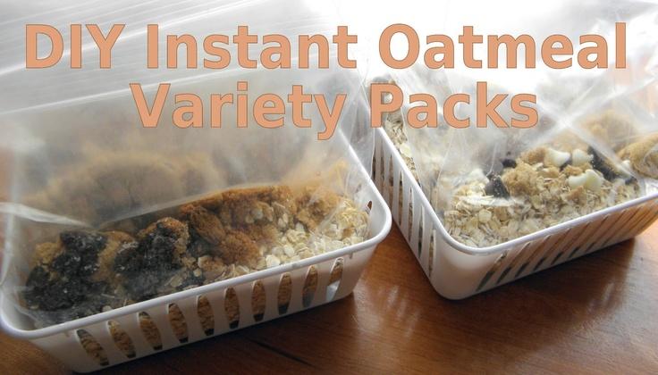DIY Instant Oatmeal Variety Packs in 3 varieties: Cinnamon Raisin, Sea ...