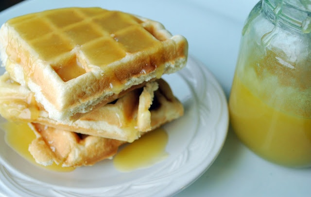 Just Another Day in Paradise: Eggnog Syrup on Waffles or Pancakes