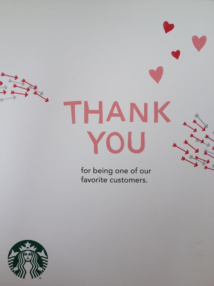Starbucks Thank You Sign