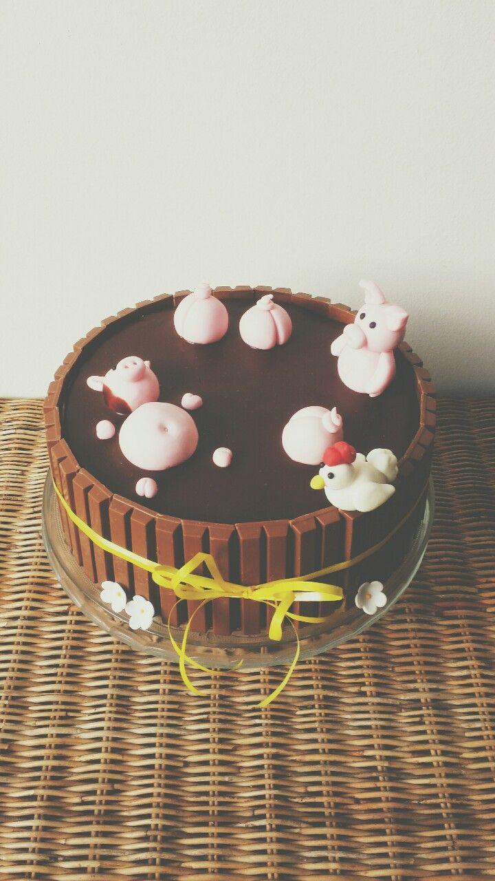 Kitkat pig cake - Sweet Miss Cake   Sweet Miss Cake - Cakes   Pintere ...