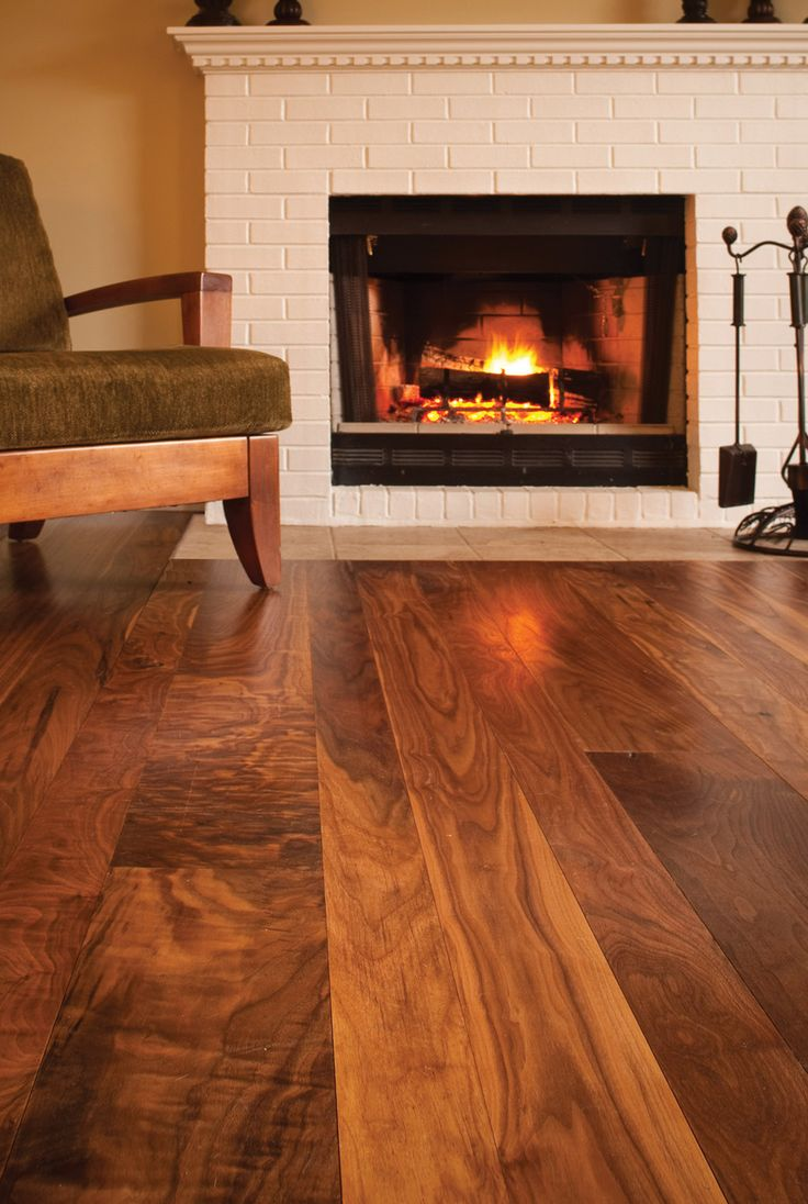 Walnut flooring warm living room pinterest for Walnut flooring
