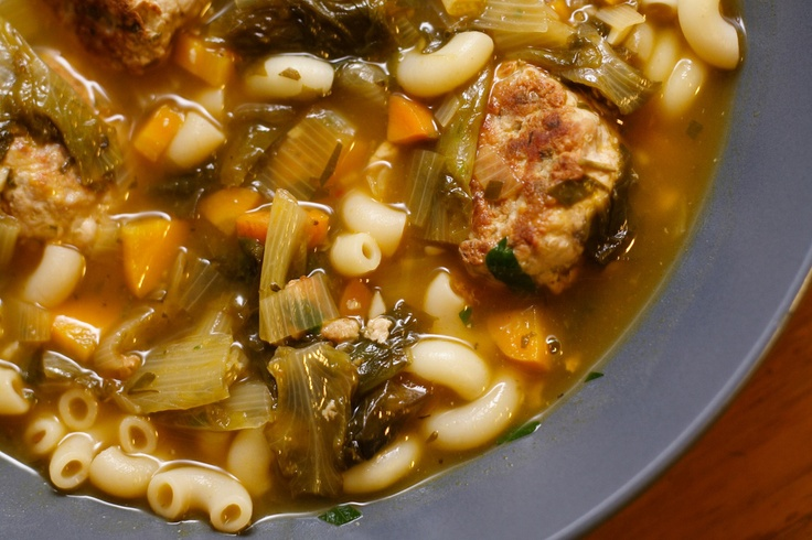 Escarole Soup with Turkey Meatballs | Fall fun | Pinterest