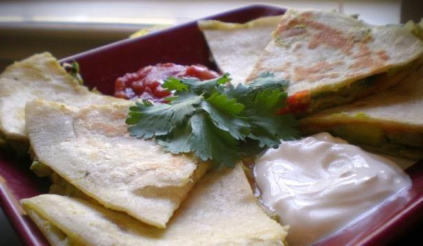 Cheesy Guacamole Quesadillas 1 avocado 2 teaspoons lime juice 1 ...