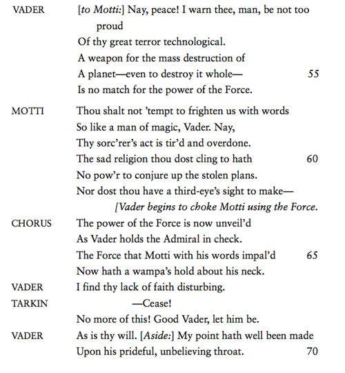 """If Shakespeare Had Written """"Star Wars"""""""