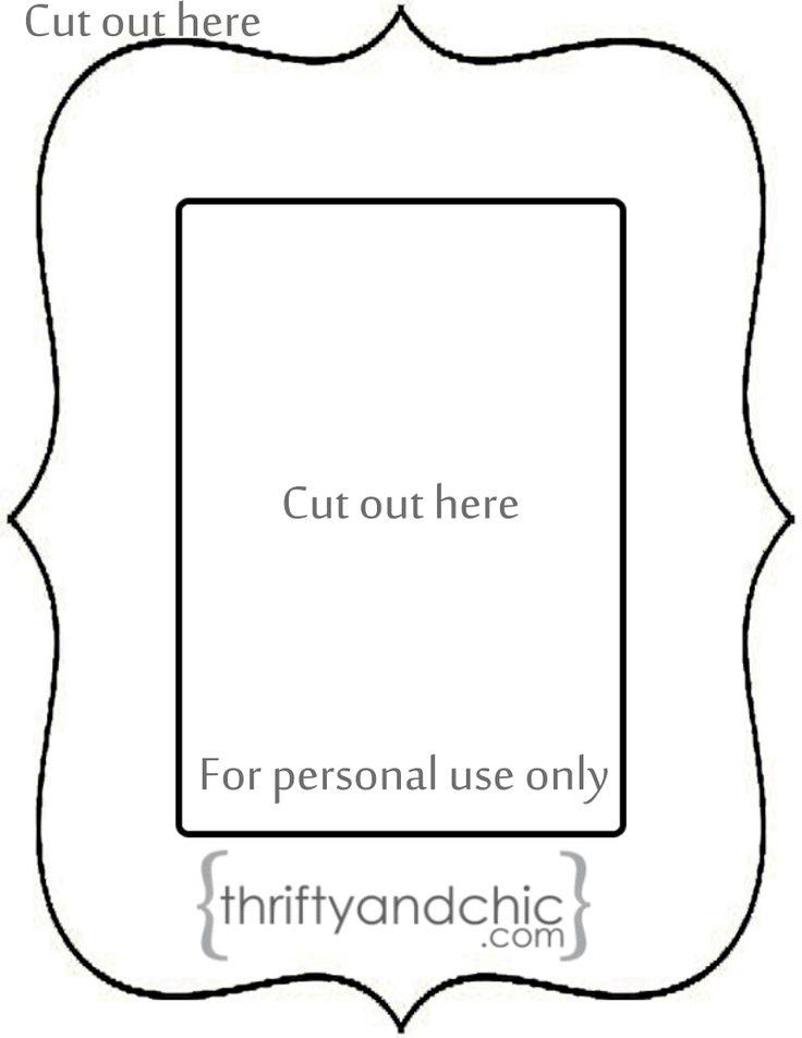 Glasses Frame Outline : Scalloped Frame Outline DIY Pinterest