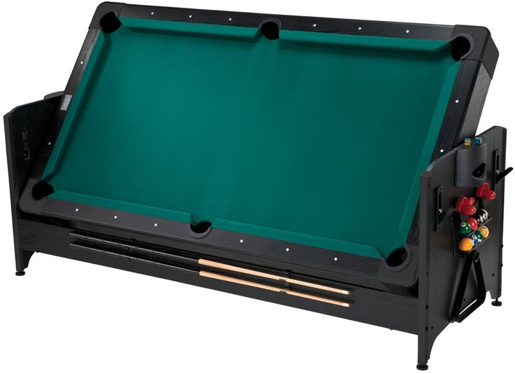 Pool Table Air Hockey Ping Pong Combo Pockey 7ft Black 3-in-1 Air Hockey, Billiards, and Table Tennis Table ...