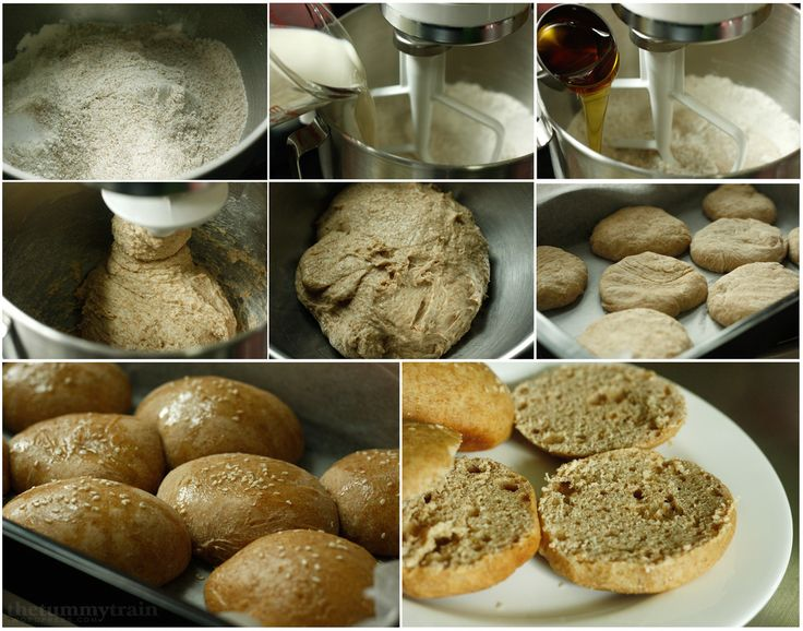 Honey Wheat Sandwich Buns | The Tummy Train | Pinterest