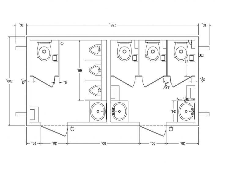 Public bathroom stall dimensions