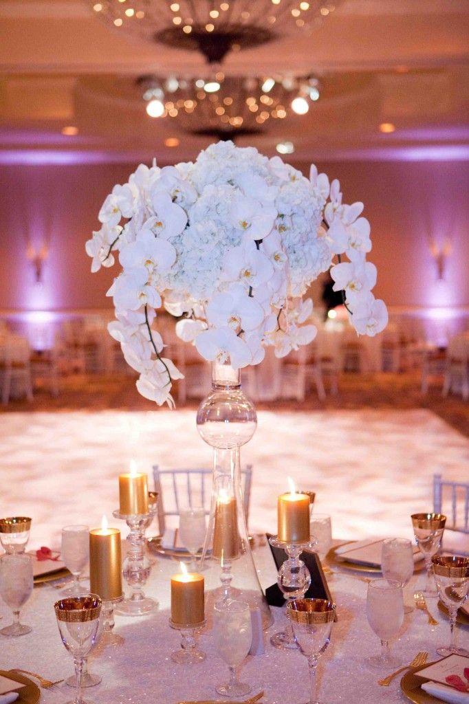 Orchid ice centerpiece wedding orchids pinterest