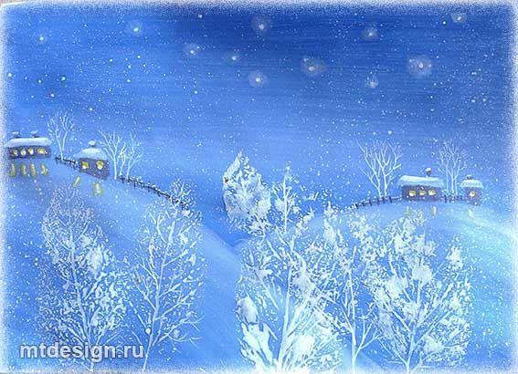 Фото зимы как рисовать