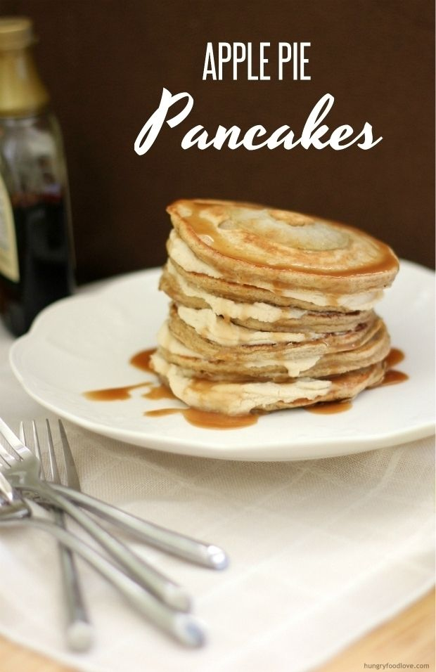 Apple Pie Pancakes with Caramel Mascarpone Filling --This looks ...