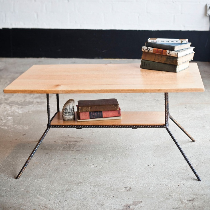 Rough South Home Red Oak Double Decker Coffee Table