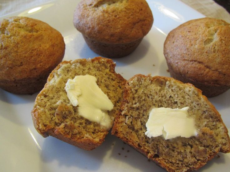 Easy Banana Muffins... swapped low-fat yogurt for oil, reduced sugar ...