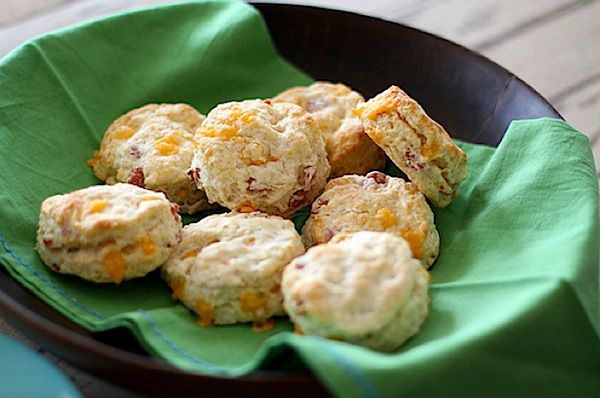 Flaky Cheddar and Ham Biscuits | MAKE