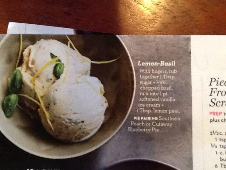 home made lemon basil ice cream homemade lemon basil ice cream recipes ...