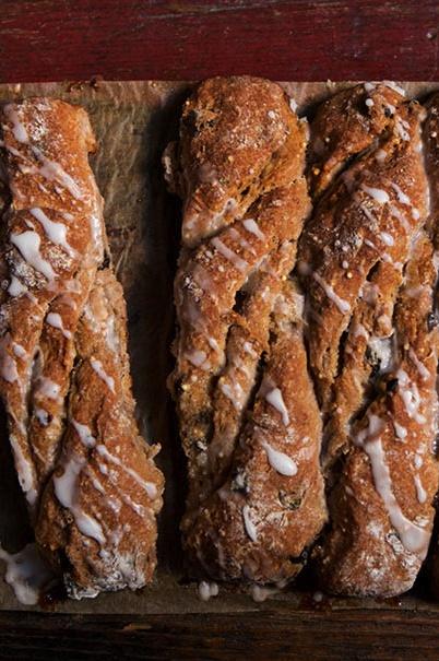 Cinnamon-Raisin Bread Twists (gluten free)