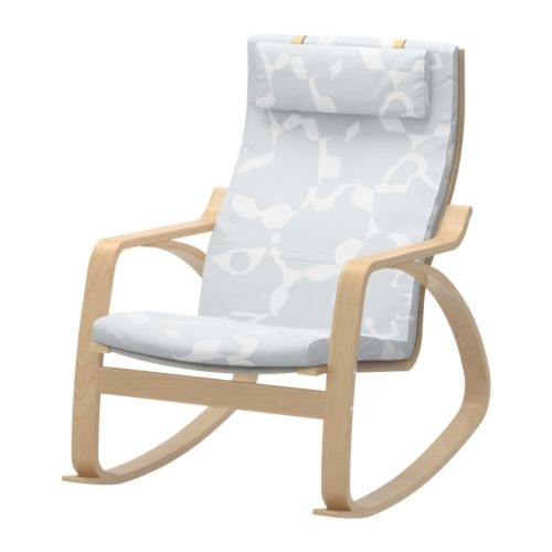 POÄNG Rocking chair, birch veneer, Alme black
