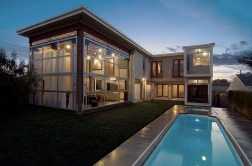 Two story with pool shipping container homes pinterest - Two story shipping container homes ...