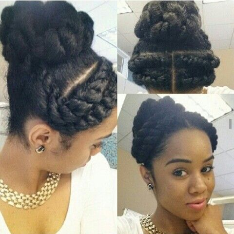 Flat Twists And Twisted Bun Updo Natural Hairstyles