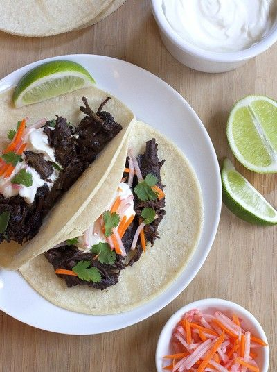Braised Beef Short Rib Tacos with Pickled Vegetables | Tasting Notes