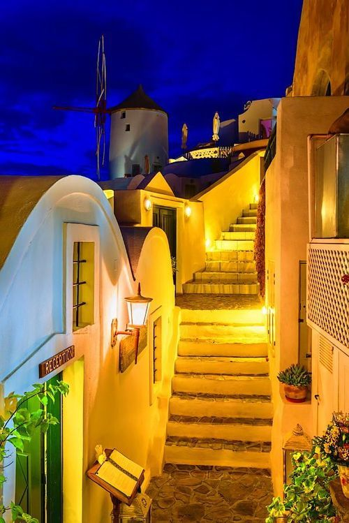 bluepueblo:  Dusk, Santorini, Greece photo by foto