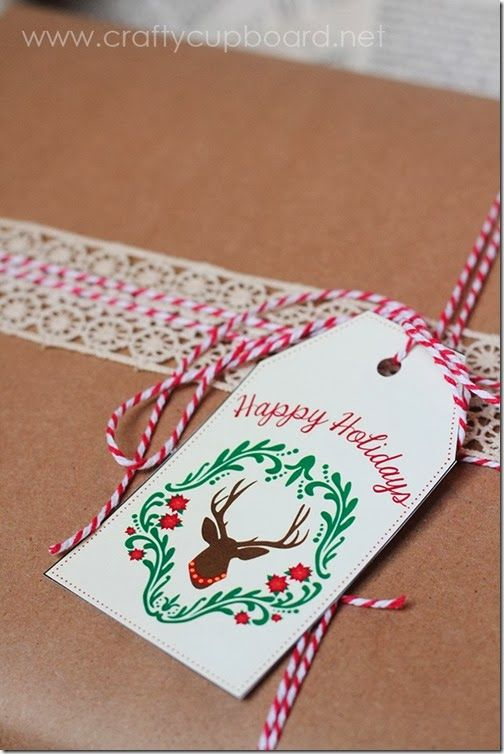 Free Printable Rustic Deer Gift Tags by The Crafty Cupboard
