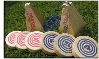 Outdoor lawn game, yard game, bocce, horseshoes, outdoor sport, sports